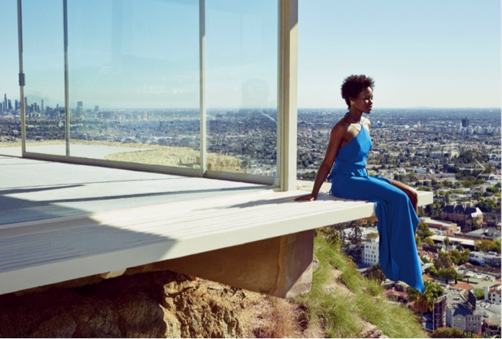 Lupita N'Yongo for March 2015 Lucky Mag