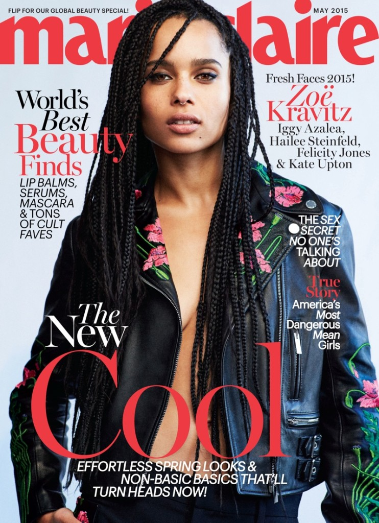 Zoe Kravitz for May 2015 Marie Claire