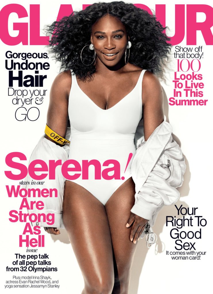 Serena Covers Glamour Magazine's %22Women are Strong as Hell%22 Issue