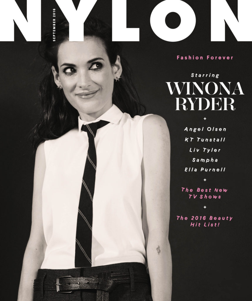 6 Winona Ryder, photographed by Ash Kingston for Nylon, Sep 2016.