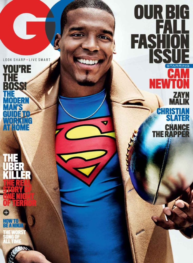 Cam Newton for The Septembe3r 2016 Issue of GQ
